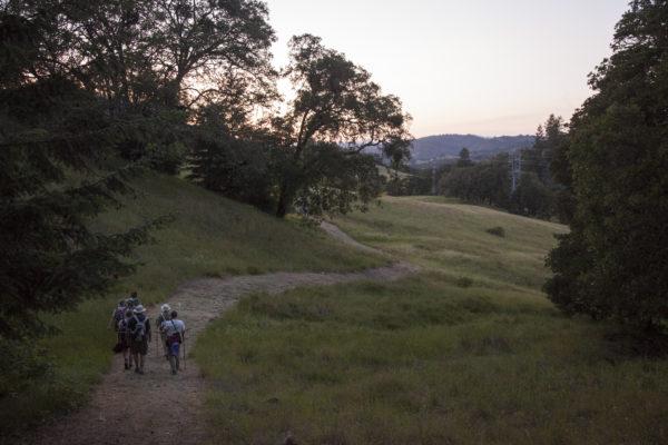 Volunteers hike Saddle Mountain