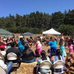 Tribal members and guests celebrating the return of the Coastal Reserve to the Kashia.