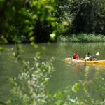 View of kayakers from Russian Riverkeeper Park