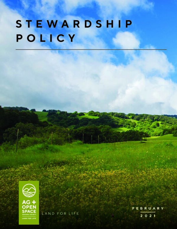 Stewardship Policy cover page.